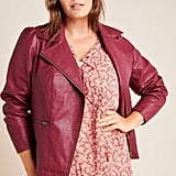 Petula Puff-Sleeved Moto Jacket