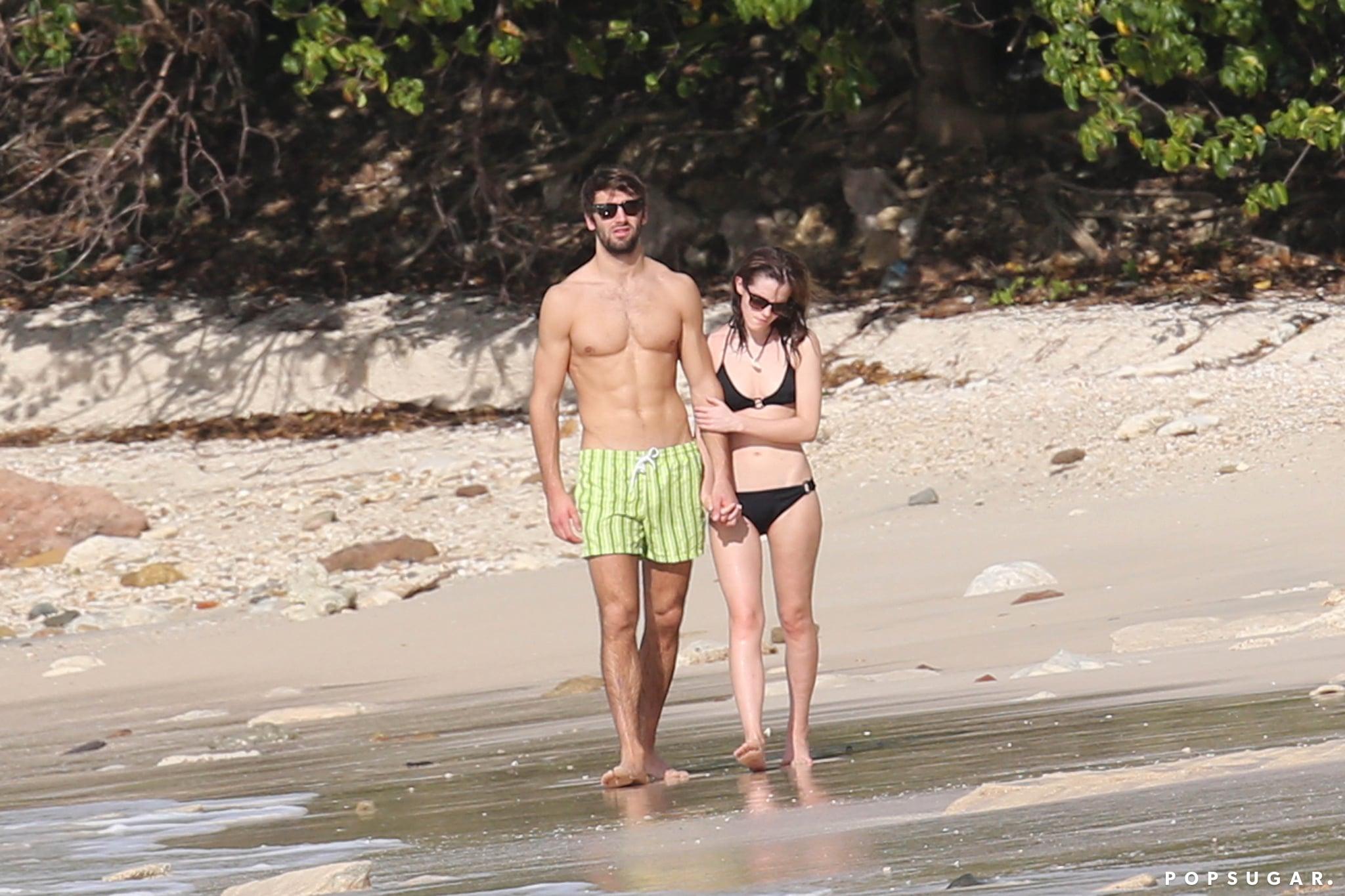 Emma Brings Her Bikini Body and Her New Man to the Beach