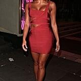 Kazimir Crossley's Red Cutout Dress