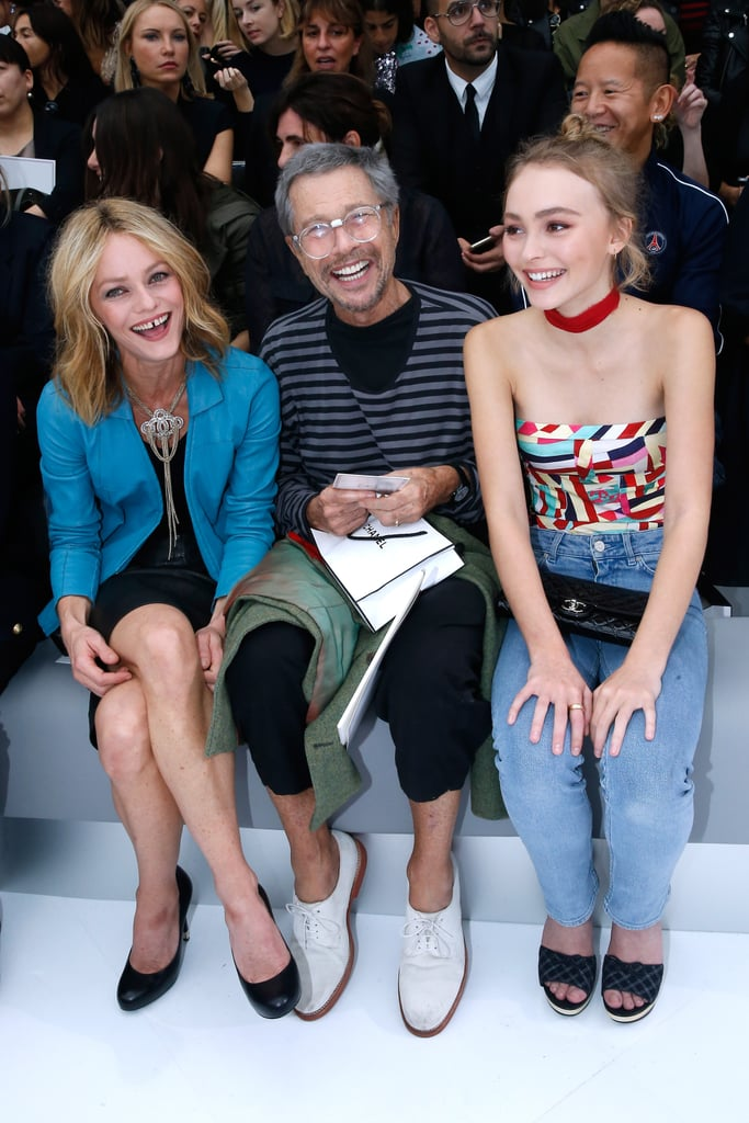 "Lily-Rose Depp looked so grown up when she attended the Chanel show at Paris Fashion Week on Tuesday. The stunning 16-year-old sat front row with her look-alike mother, Vanessa Paradis, and French designer Jean-Paul Goude. Lily-Rose, whose dad is Johnny Depp, flashed a cute smile for photographers as she posed on the airport-inspired runway. And despite sitting this show out, the model already has close ties with the fashion powerhouse. She was recently tapped as a Chanel ambassador and walked in their casino-themed haute couture show in July.  While Lily-Rose's career is undoubtedly just getting started, Johnny admitted that he's already concerned about her stepping into the spotlight. He recently told Germany's Gala magazine, ""To be honest, I'm quite worried. What's happening with Lily-Rose right now isn't what I expected. Definitely not at this age. But these are her passions and she's having fun."" Keep reading to see more of Lily-Rose's latest appearance, and then check out more kids who are almost identical to their famous parents."