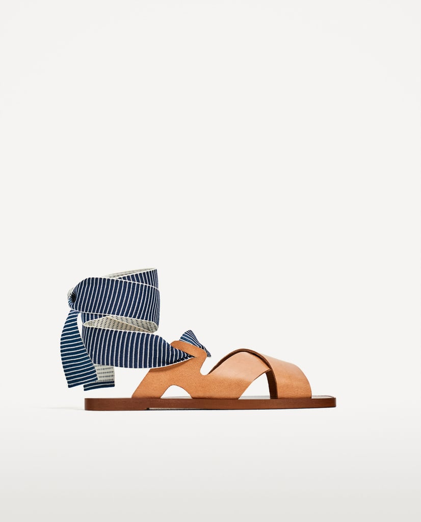 Zara Leather Slides With Interchangeable Straps
