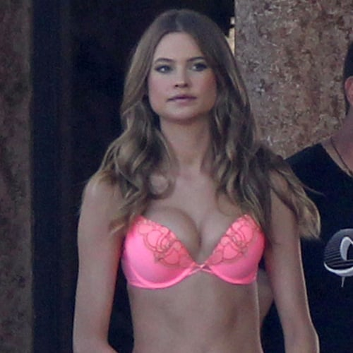 Behati Prinsloo at a Victoria's Secret Lingerie Photo Shoot