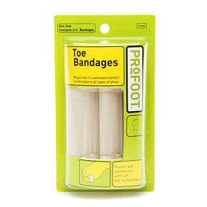 For more hard-core blisters, use a Toe Bandage ($4). It uses foam to provide extra cushion.