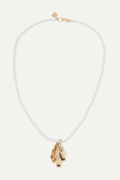 Leigh Miller Azalea Gold-Plated Pearl Necklace