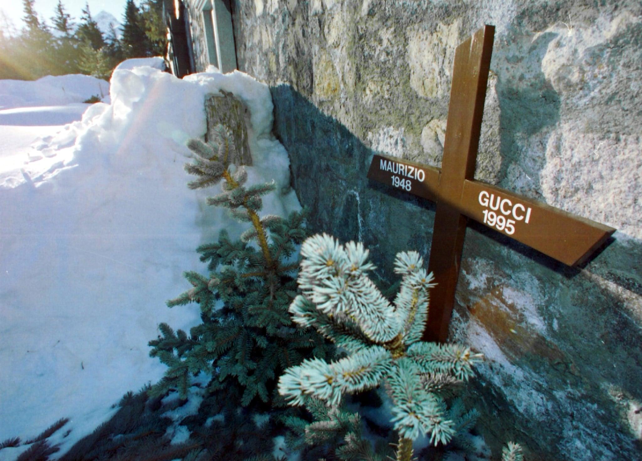 Grave of Maurizio Gucci in St. Moritz، 1997 (عکس از Blick / RDB / ullstein bild از طریق گتی ایماژ)