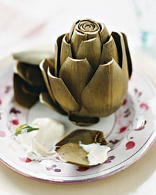Steamed Artichokes With Tarragon Mayonnaise
