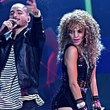 "Maluma and Leslie Grace Performing ""Aire"""