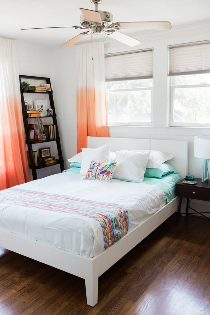 Coral and aqua-blue elements might help Ariel feel less homesick in her modern-day apartment.  Source: Ever and Anon Photography for The Everygirl