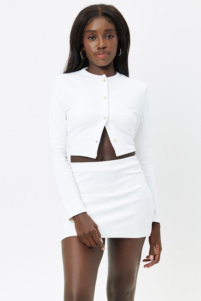The Cute Cover-Up: Frankies Bikinis Cheri Terry Cardigan Sweater and Windward Terry Skirt
