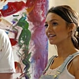 Sasha and Sam's date involved painting a mural to sell off to benefit the National Stroke Foundation.