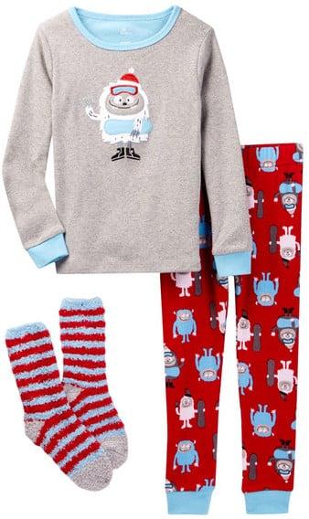 Petit Lem Long Sleeve Top & Knit Pant PJ Set