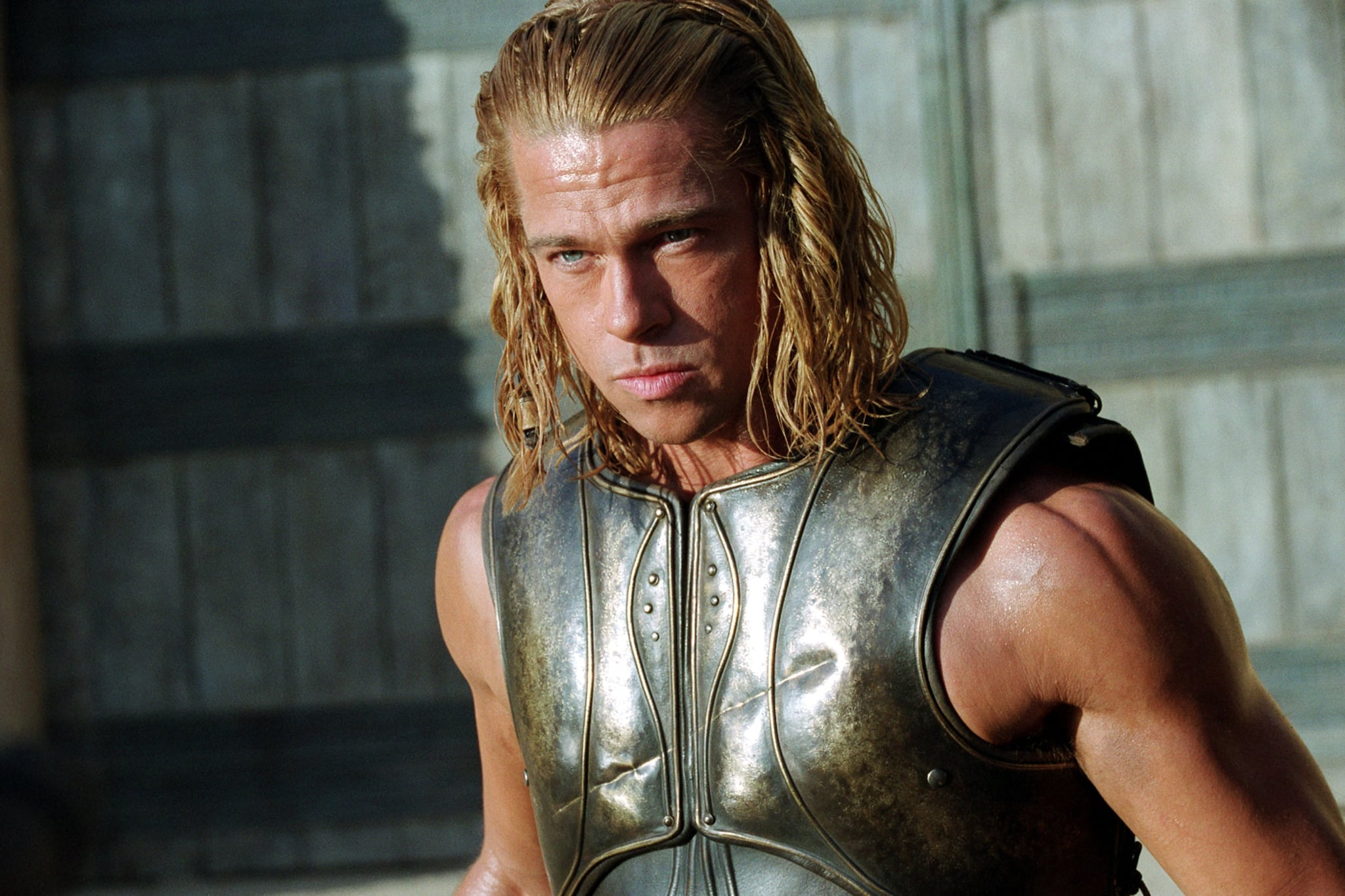 Brad Pitt as Achilles | We'd Time Travel For These Hot ... Achilles Brad Pitt Hair