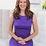 Jennifer Garner wore a purple dress.