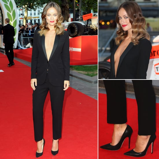 Olivia Wilde Revealing Trouser Suit at Rush Premiere