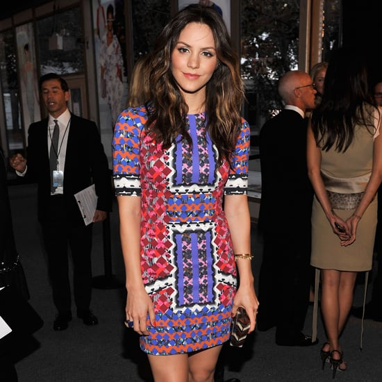 Katharine McPhee Wearing Colorful Print Dress