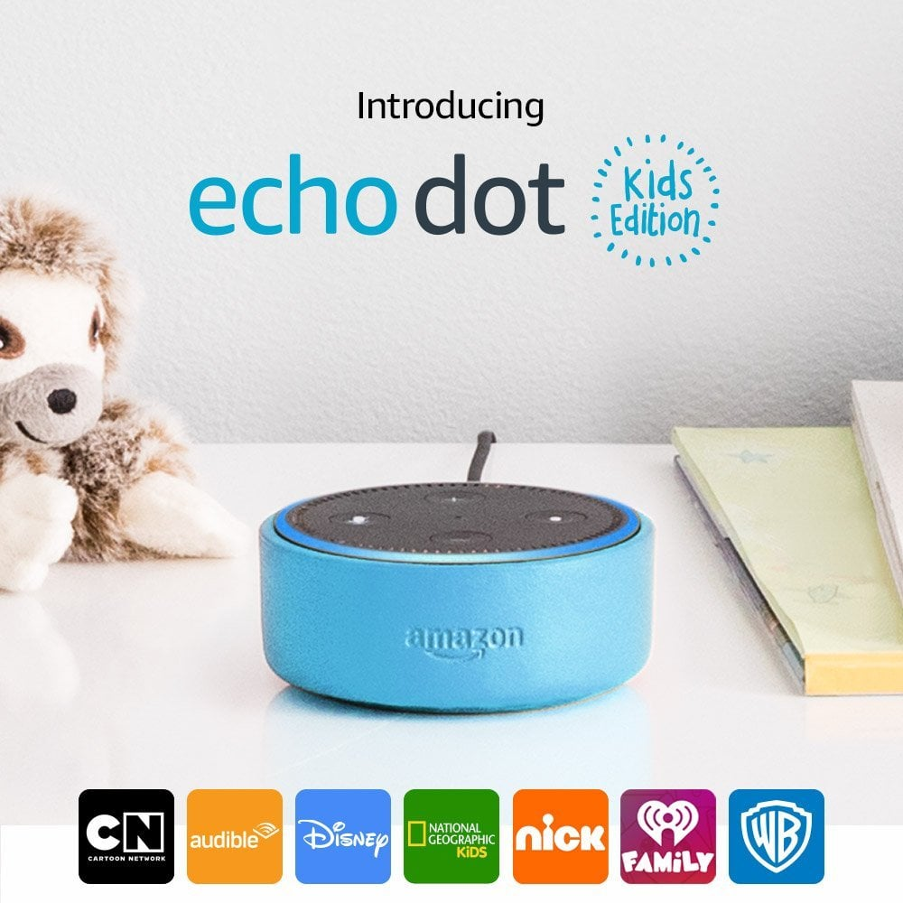 "Alexa speaks ""Kid."" If a child says, ""Alexa, I'm bored,"" the device will have age-appropriate suggestions at the ready. According to Amazon, ""the more they use Alexa, the smarter she will get."""