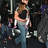 Matt Damon carried Stella through the airport.