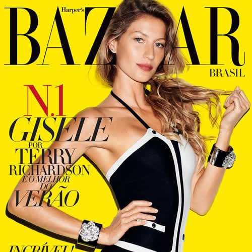 Gisele Bundchen on Cover of Harper's Bazaar Brazil Pictures