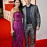 Matt Damon and his wife Luciana made a stunning couple on the red carpet at the London premiere of The Monuments Men on Tuesday.