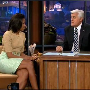 Michelle Obama Jay Leno Vegetables