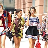 Bold hues, bright prints, statement accessories, and skin-baring cuts — there's nothing this style crowd (with Miroslava Duma) can't pull off. Source: Greg Kessler