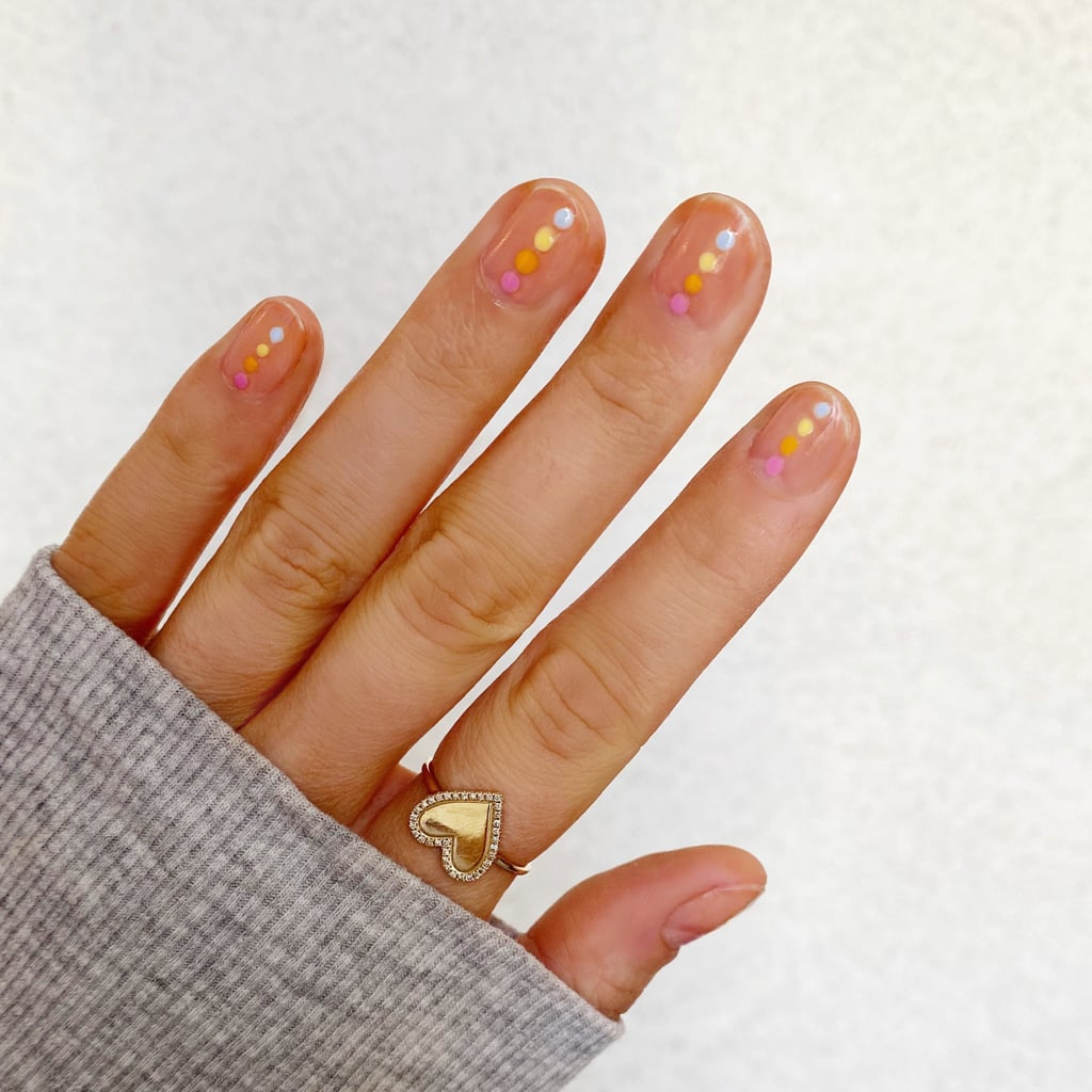 Easy Rainbow Dot Nail-Art Tutorial For Pride Month