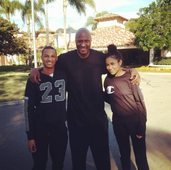Lamar Odom Photo With Kids Decemeber 2016
