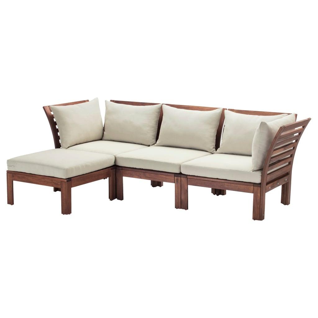 Äpplarö 3-Seat Modular Sofa With Footstool