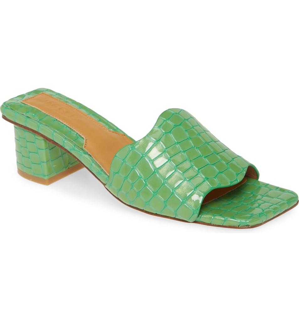 Jaggar Scallop Strap Slide Sandal