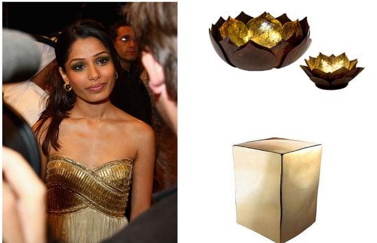 Inspired: Frieda Pinto's Glam Gold
