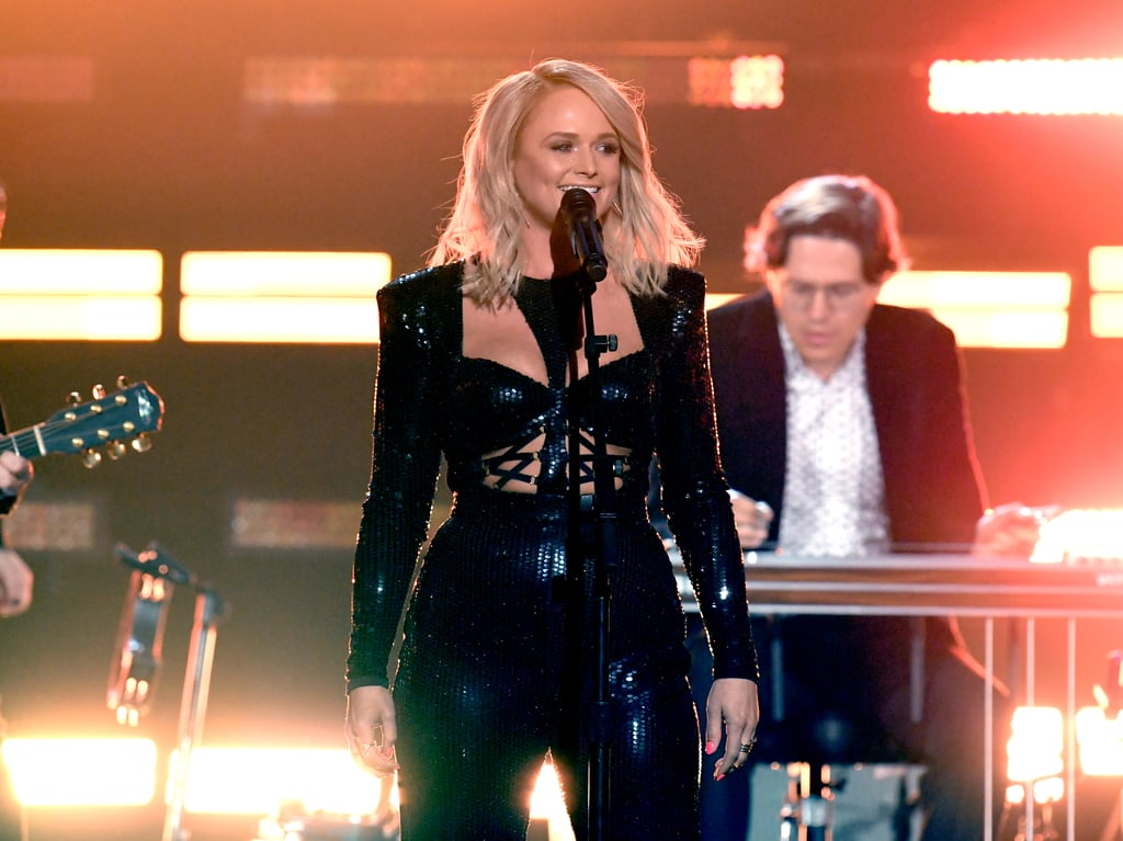 "Not long after Miranda Lambert made her red carpet debut with her new husband and the ""love of her life,"" Brendan Mcloughlin, at the Academy of Country Music Awards on Sunday night, she hit the event's stage to belt out a powerful medley of some of her biggest hits. Dressed in a badass black sequinned jumpsuit with sultry cutouts, the country star rocked out to ""Gunpowder and Lead,"" ""Kerosene,"" ""Mama's Broken Heart,"" and more. No wonder the crowd couldn't stop screaming for her!  Watch Lambert — who has won 32 ACM awards in the past and was nominated for two more at the annual show in Las Vegas — kick some country ass in her performance ahead. Then, if you can't get enough, keep scrolling to see some standout photo moments from her set!"