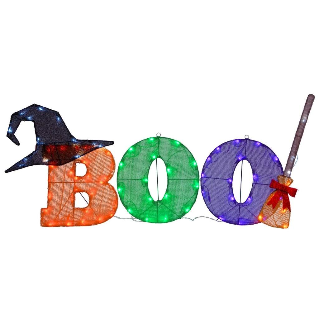 LED Boo Novelty Halloween Lights