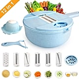 Fomuson 12-in-1 Vegetable Mandoline Slicer Cutter Set