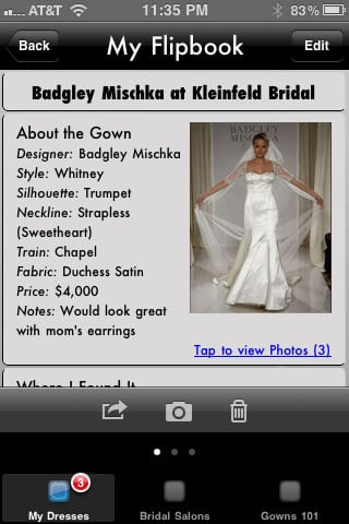iBridal Gown ($4)