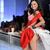 Miranda Kerr hit her mark on the catwalk.