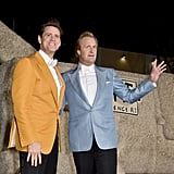Dumb and Dumber To's Jim Carrey and Jeff Daniels joked around at the film's LA premiere on Monday.