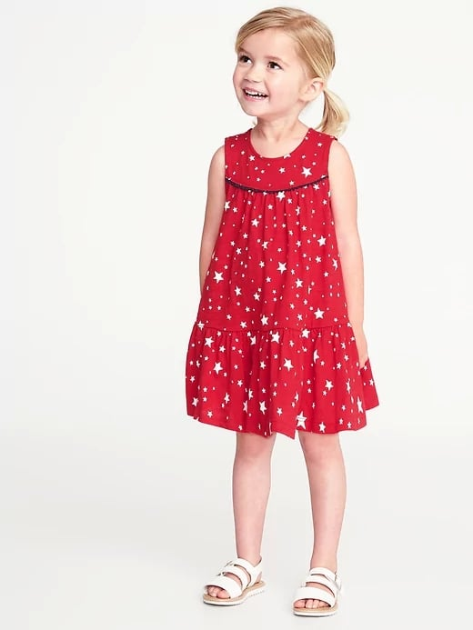 fef045d655ad Old Navy Americana Tiered Swing Dress | Red, White, and Blue Clothes ...