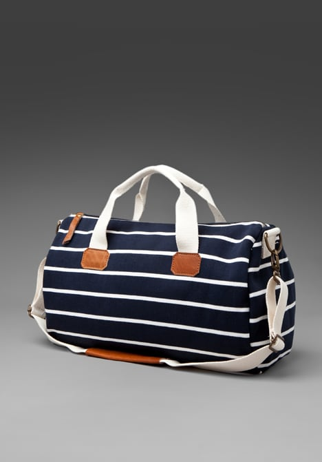 Whether or not you're packing for a boat trip, this striped duffle is perfect for a weekend getaway.  Brandy Melville Striped Duffle ($60)