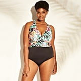 Plus-Size X-Back One Piece Swimsuit