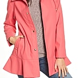 Kate Spade Hooded Peplum Raincoat