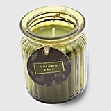 Autumn Pine Ribbed Glass Jar Candle