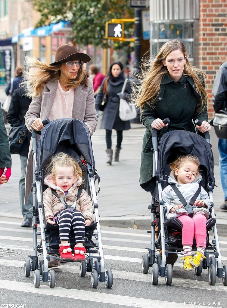 Sarah Jessica Parker's daughters, Tabitha Broderick and Loretta Broderick, wore Fall jackets.
