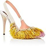 Rochas Fringed Slingback Heels ($1,990)