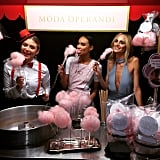 The team from Moda Operandi manned the cotton candy booth.