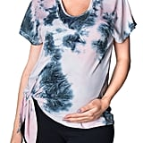 Bun Maternity Cloud Nine Tie Dye Tie Front Maternity/Nursing Top