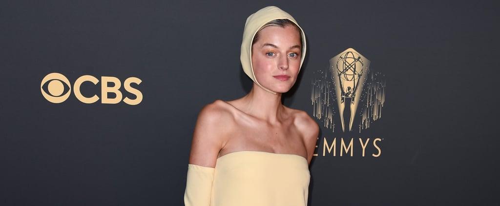 Emma Corrin's Yellow Miu Miu Dress at the Emmys 2021