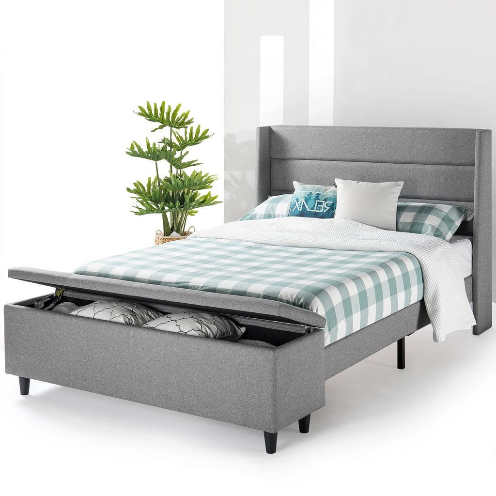 Mellow modern upholstered platform bed with storage best - Best platform beds with storage ...