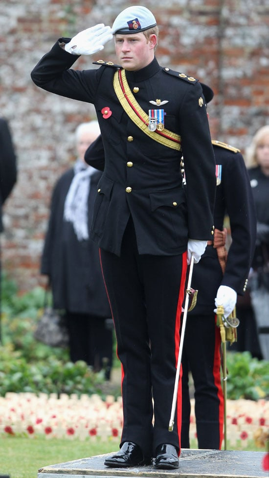 Prince Harry at the Field of Remembrance