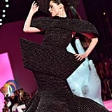 Model Coco Rocha on the Christian Siriano Fall 2020 Runway at New York Fashion Week