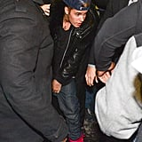 """Source: Getty/George Pimentel  Jan. 29 Justin made headlines again when he turned himself into Toronto police to be charged with criminal assault. The charge resulted from a December incident in which he allegedly roughed up a limo driver. It was a big day for Bieber, as he also released a video for his new song, """"Confident,"""" and pleaded not guilty to the DUI and drag racing charges in Miami. Jan. 31 Justin's private plane was searched by police at an airport in New Jersey after the authorities detected a strong odor of marijuana coming from the plane. Justin, who was traveling with his father and 10 friends, was eventually allowed by authorities to leave the airport. He reportedly admitted to smoking pot and drinking, but since there were no more drugs on the plane, the police had to let him go. Over the weekend, he attended several Super Bowl parties in NYC. Feb. 5 NBC News obtained the official report from Justin's plane drama before the Super Bowl, and the new revelations won't pay the pop star any favors. According to the pilots and the flight attendant, Justin and his friends were smoking so much weed on the plane that the crew all had to wear gas masks. Justin and his entourage were asked to stop smoking, but they refused to listen to the crew. In addition, Justin and his father, Jeremy, were allegedly """"extremely abusive verbally"""" to the flight attendant, so much so that the captain asked her to stay in the cockpit to avoid interacting with Justin and his team. June 4 In the first week of June, never-before-seen video of Justin repeatedly making racist remarks surfaced online. The first video, which was shot when Justin was 15 for his Never Say Never documentary, showed Justin making a racist joke using the n-word. The singer quickly apologized, but another video soon surfaced from around the same time period that showed the then-14-year-old Justin singing his hit song """"One Less Lonely Girl"""" while replacing """"girl"""" with the n-word. Justin was forced to apologi"""